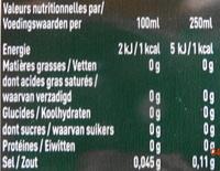Badoit citron vert - Nutrition facts