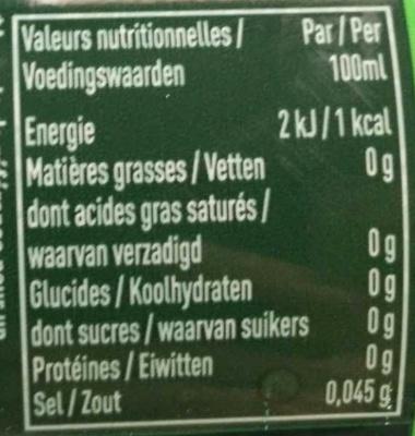 Badoit citron vert - Voedigswaarden