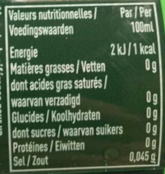 Badoit citron vert - Voedingswaarden - fr