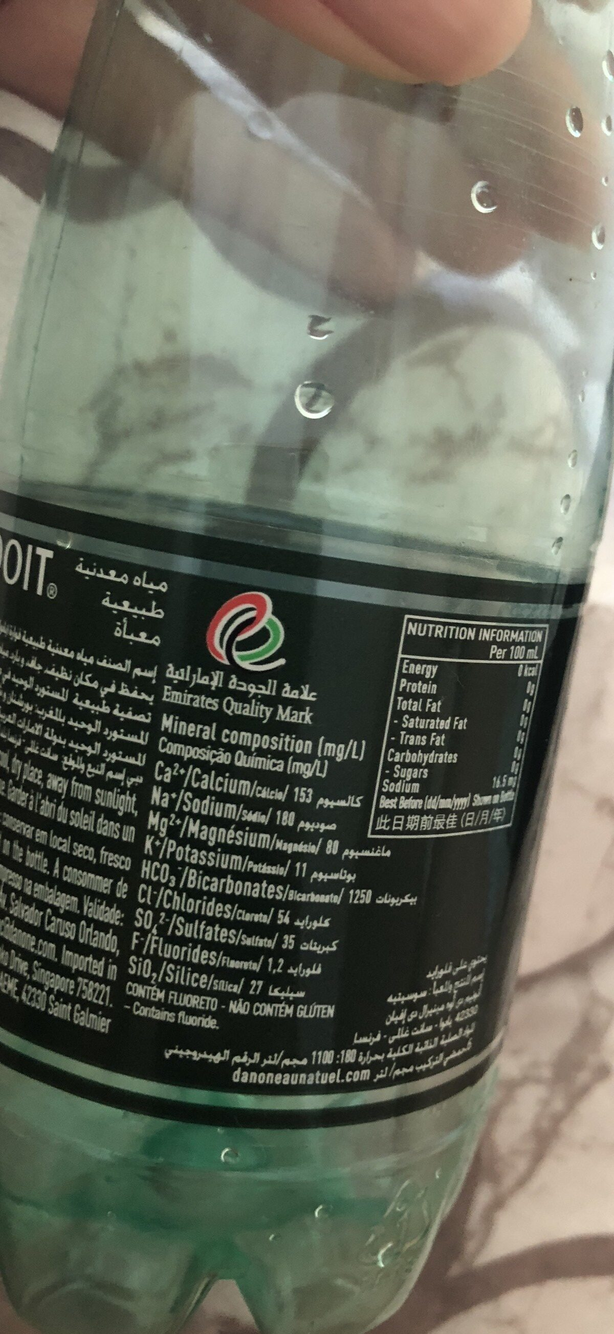 French Lightly Sparkling Water - Ingredients - fr