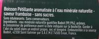 Badoit Framboise - Ingredienti - fr