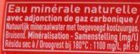 Badoit Rouge bouteille - Ingrédients - fr