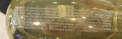 Evian fruits & plantes eau des alpes + citron + sureau - Ingrediënten