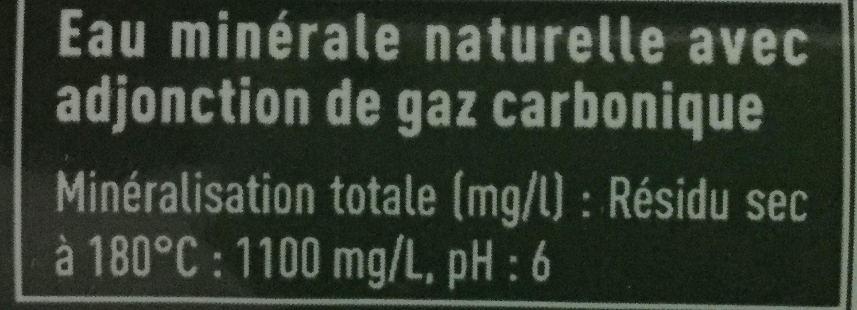 Badoit® - Inhaltsstoffe - fr