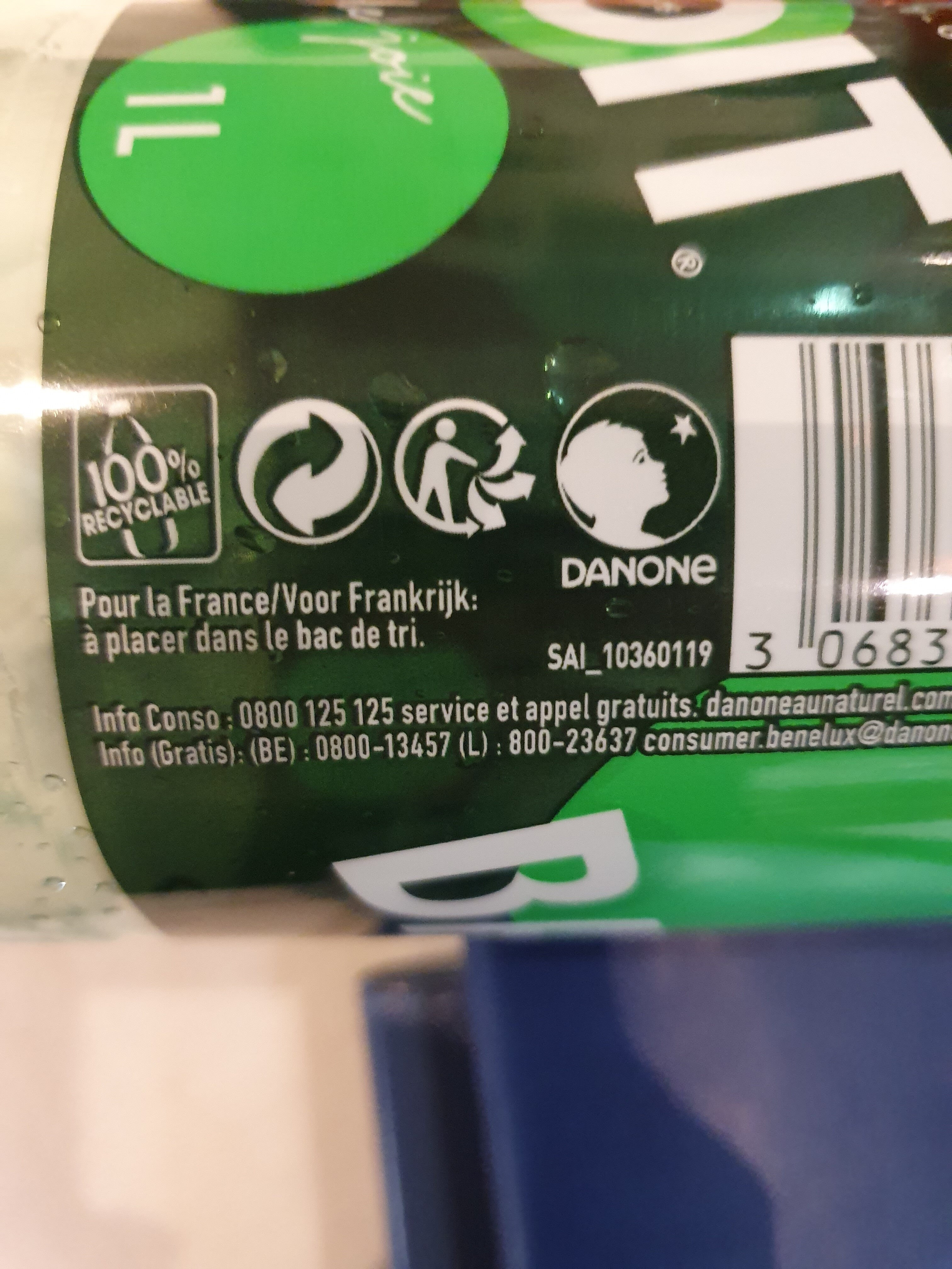 Badoit® - Recycling instructions and/or packaging information - fr