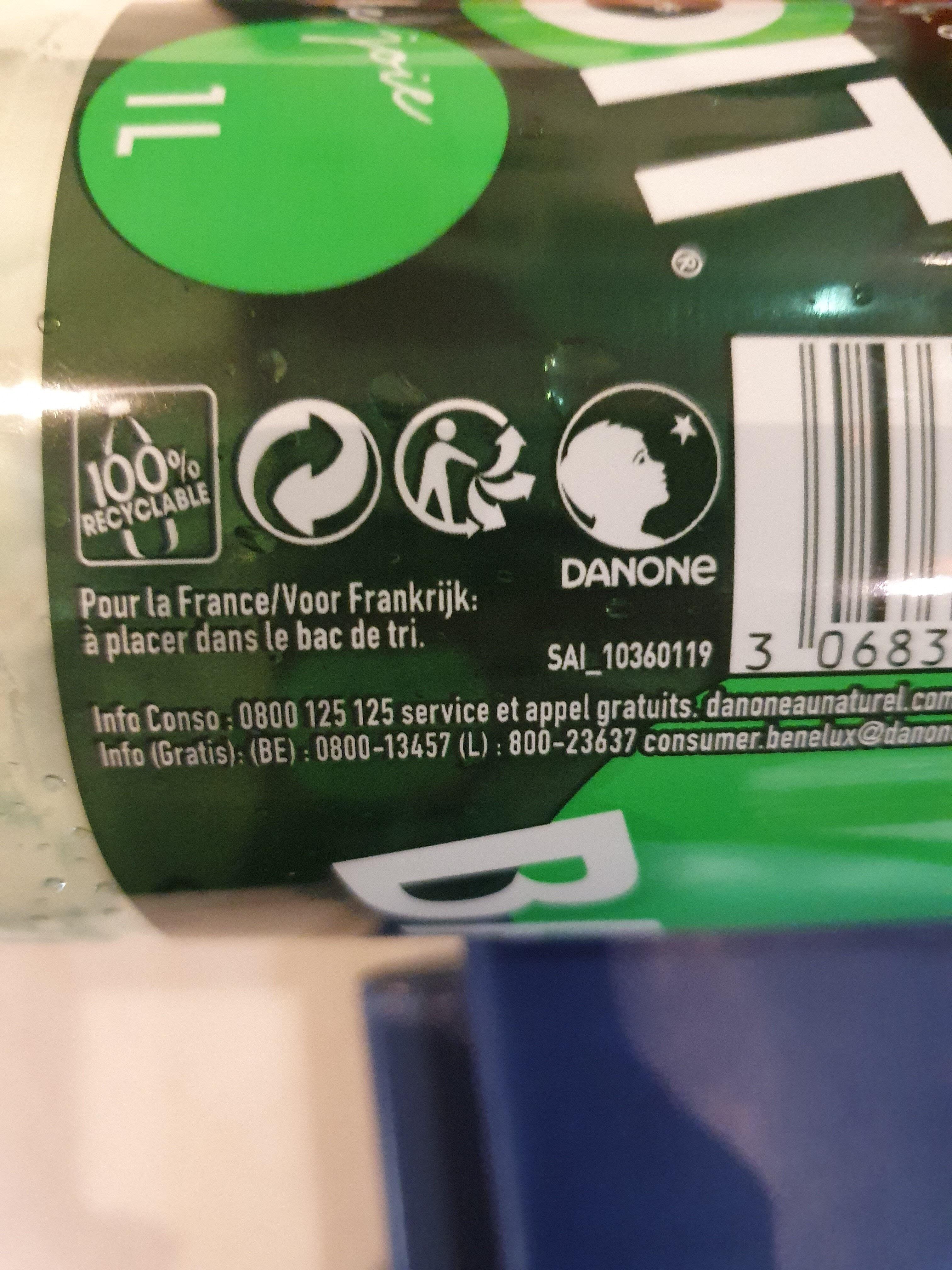 Badoit® - Istruzioni per il riciclaggio e/o informazioni sull'imballaggio - fr