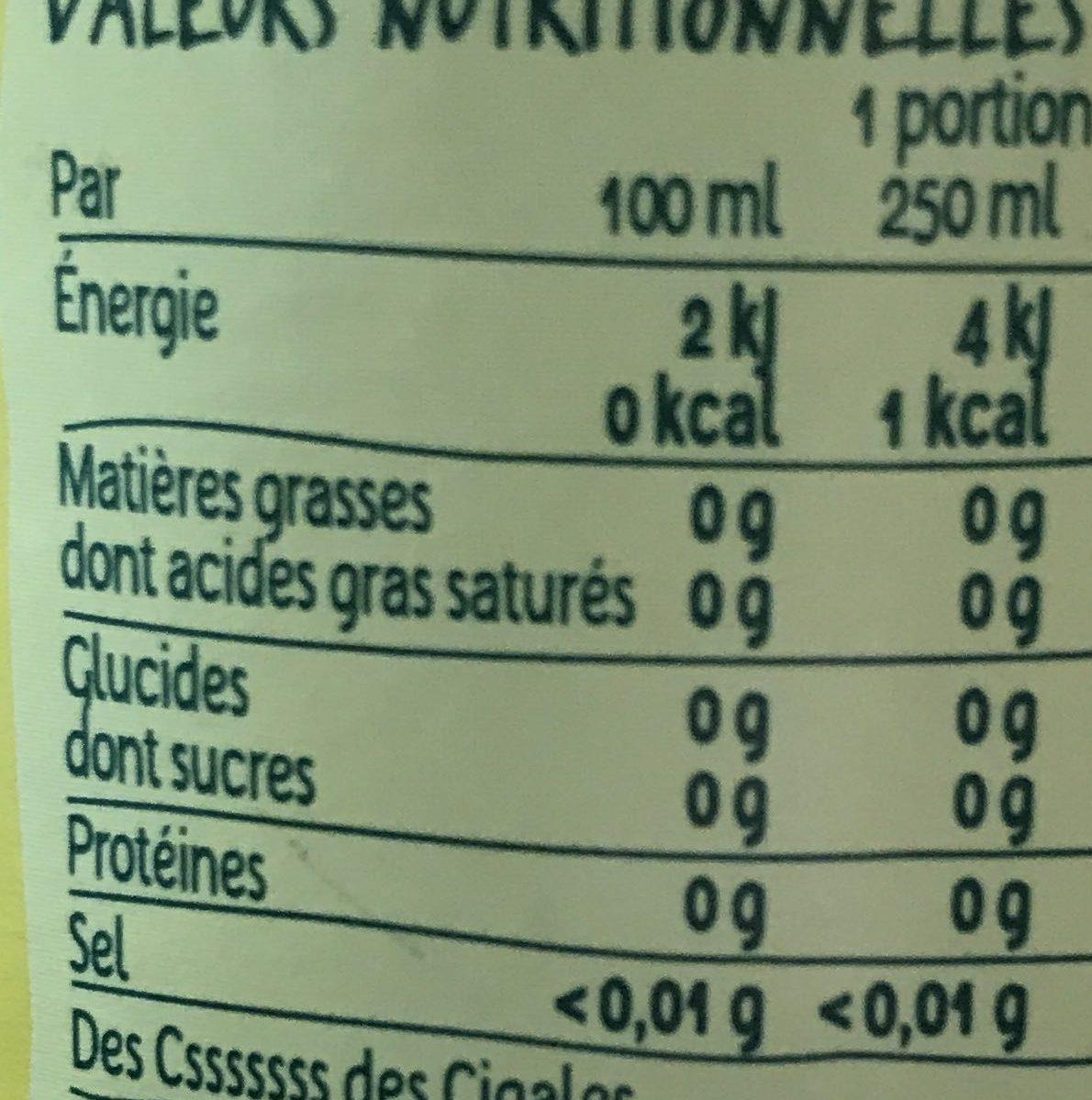 Citron - Informations nutritionnelles - fr