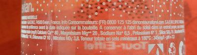 Evian - Paris edition - Ingredients - fr