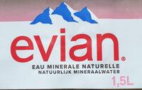 Evian 1.5L - Ingrédients - fr