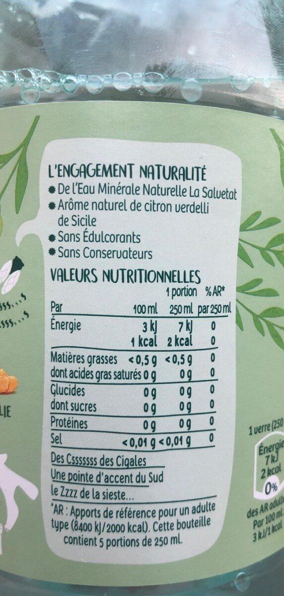 Citron verdelli - Voedingswaarden