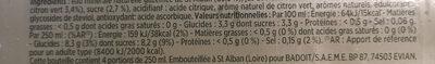 Bulles de fruit ananas touche de citron vert - Informations nutritionnelles - fr