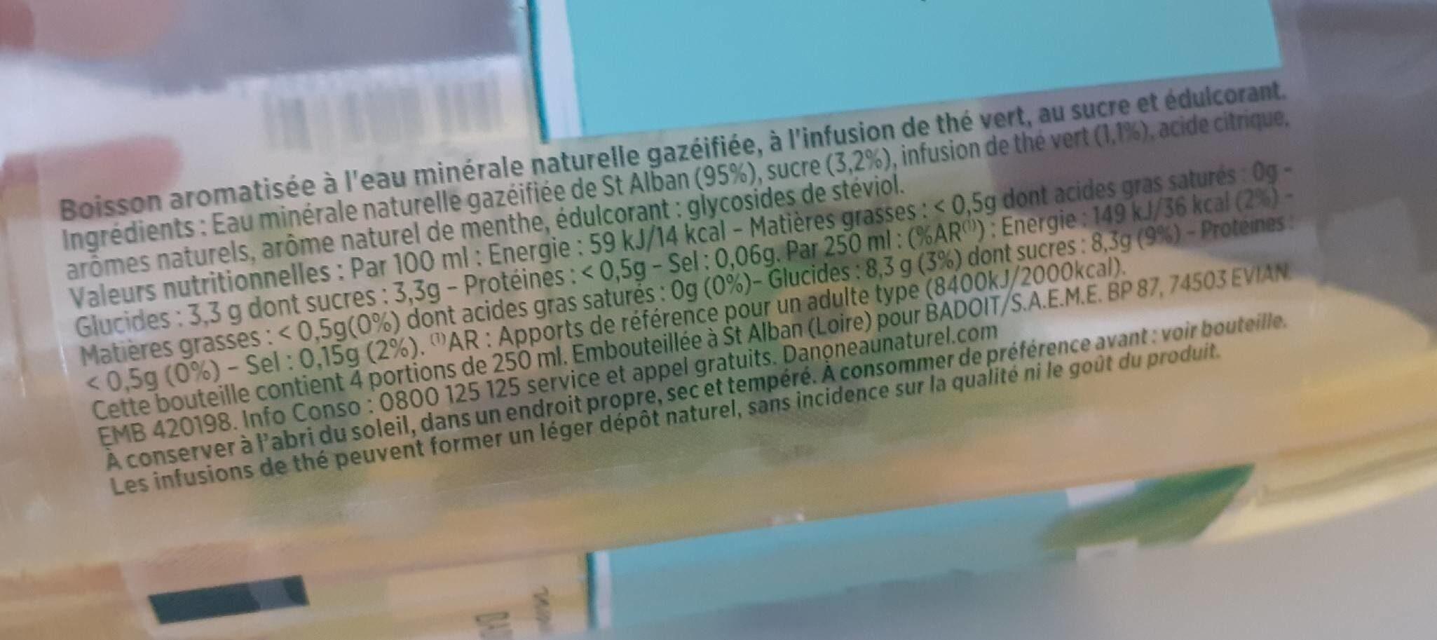 Badoit - Informations nutritionnelles - fr