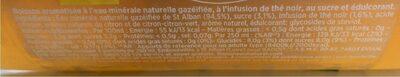Badoit Bulles & Thé Noir Parfum Citron - Nutrition facts - fr