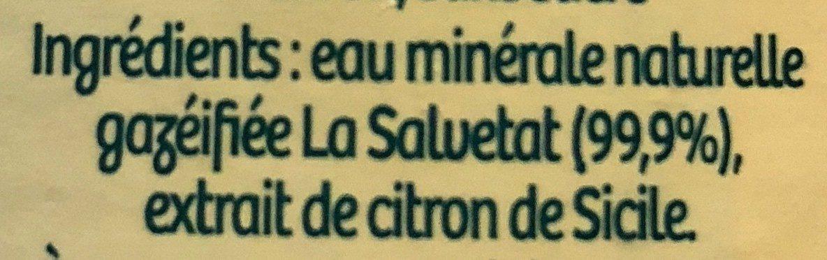 La Salvetat Citron - Ingrédients - fr