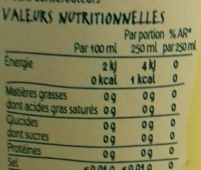 La Salvetat Citron - Informations nutritionnelles - fr