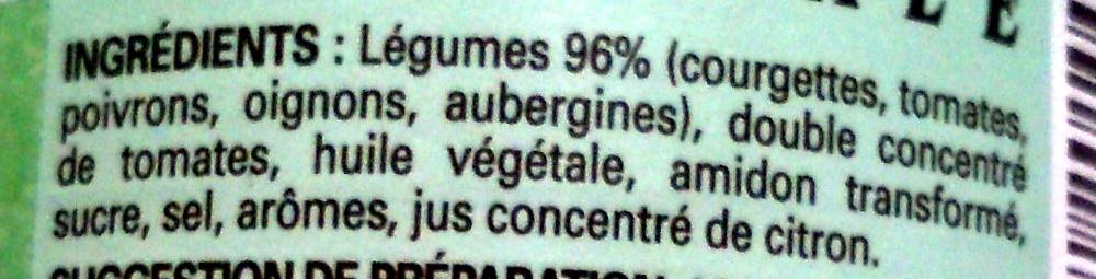 Ratatouille à la provençale - Ingrediënten - fr