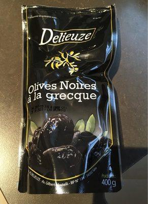DeOlives noires entières à la grecque Delieuze - Produit - fr
