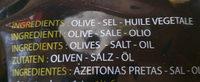 DeOlives noires entières à la grecque Delieuze - Ingrédients - fr