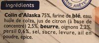 Colin d'alaska a la bordelaise - Ingrediënten - fr