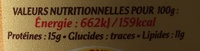 Cancoillotte Nature - Nutrition facts