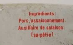 Rillettes pur porc - Ingredients
