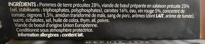Boeuf bourguignon et ses pommes de terre - Ingrédients