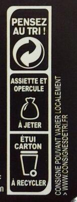 Boeuf bourguignon et ses pommes de terre - Recyclinginstructies en / of verpakkingsinformatie - fr