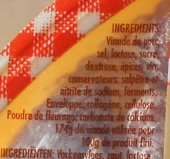 Croc'sec Nature - Ingredients - fr
