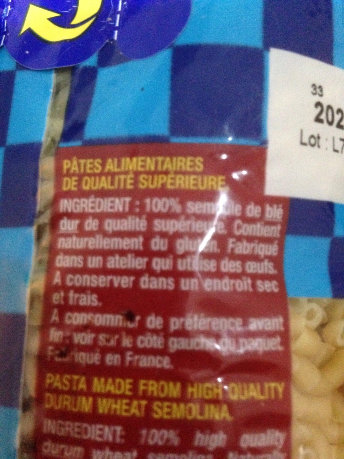 Coquilettes - Ingrédients - fr