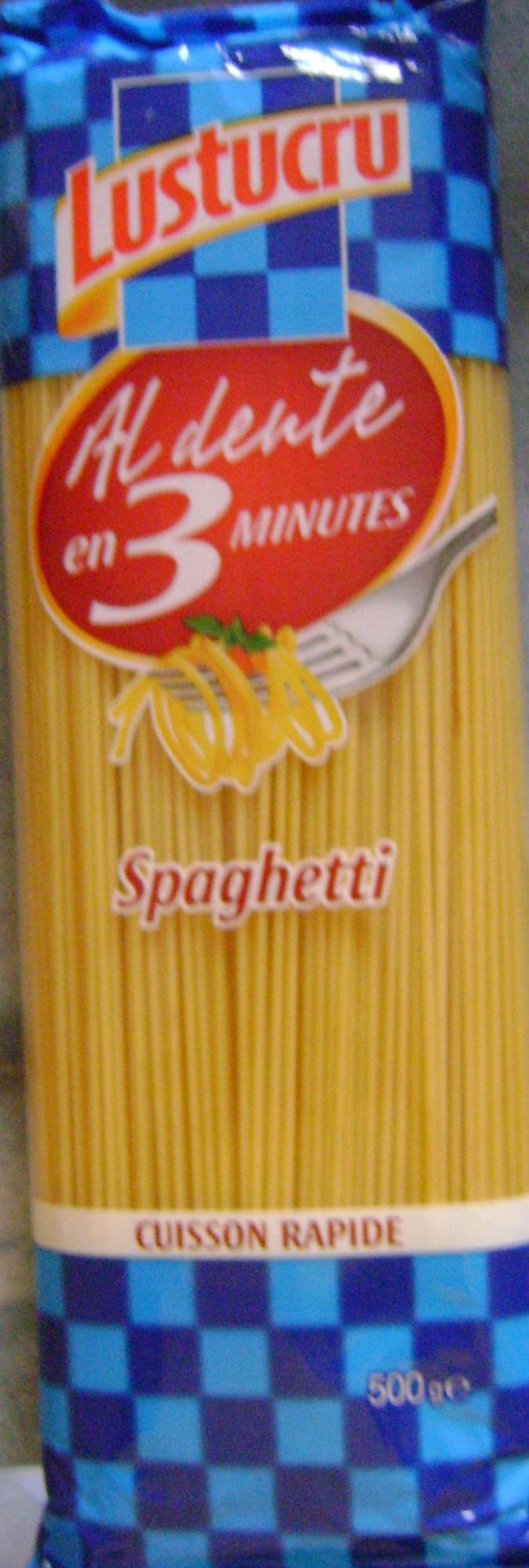 Spaghetti, Al dente en 3 minutes - Produit