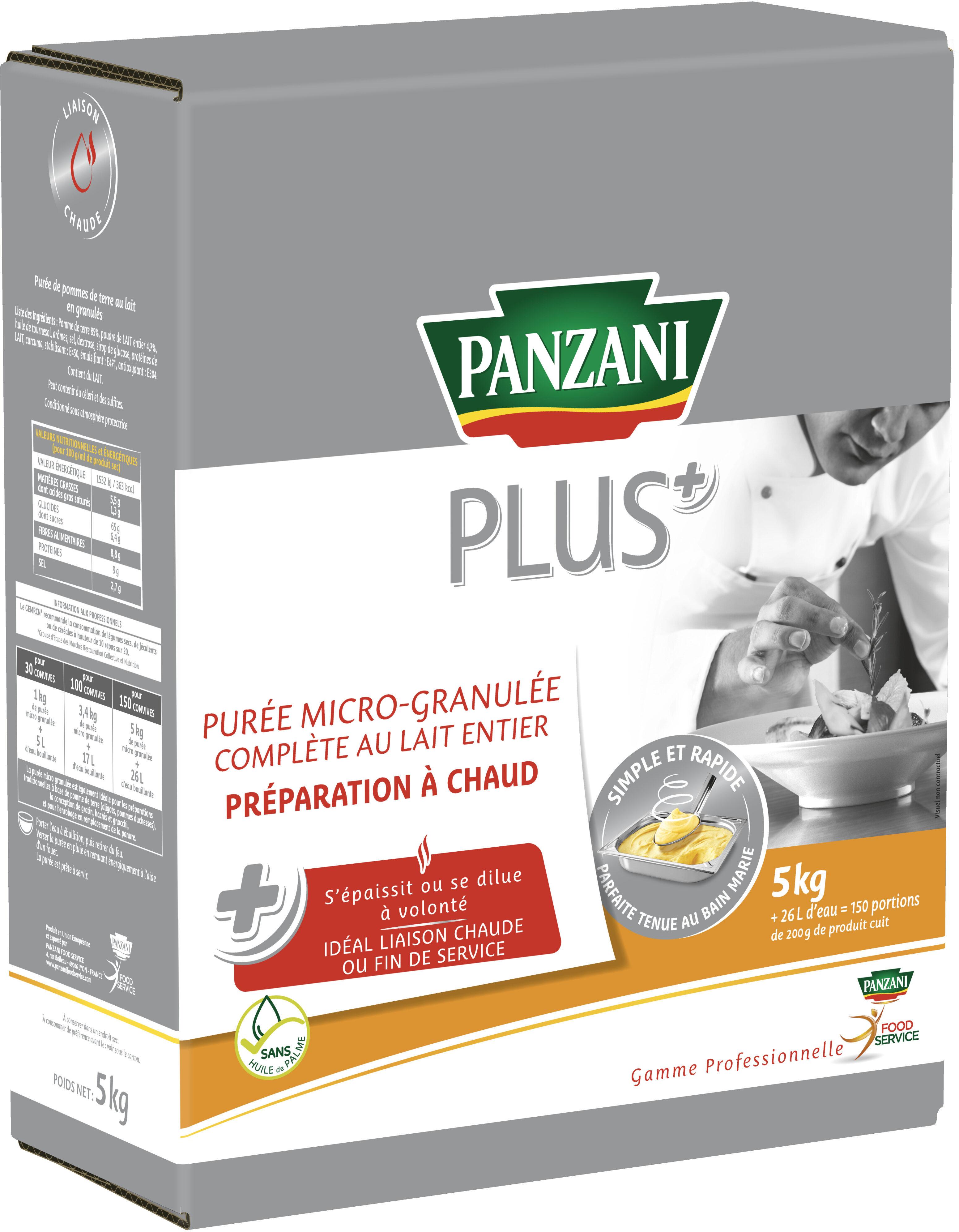 Panzani plus puree complete micro granulee rehydratable a chaud 5kg - Produit - fr