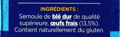 Coquillettes aux œufs frais - Ingredients