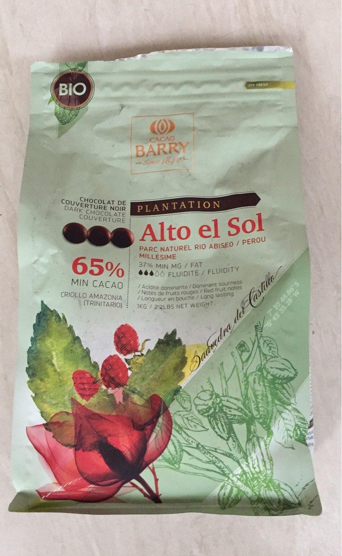 Pistoles Alto El Sol Bio  (noir, Cacao 65%) Boite 1KG - Product - fr