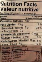 Chocolat de couverture noir - Nutrition facts - fr