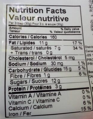 Chocolat au lait 41% - Nutrition facts - fr