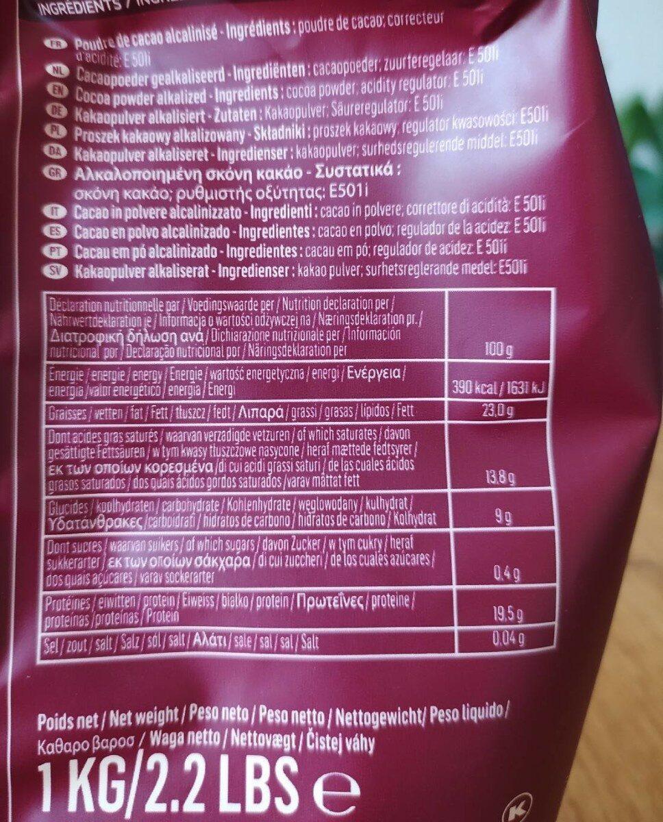 Cacao Barry - Voedingswaarden - en