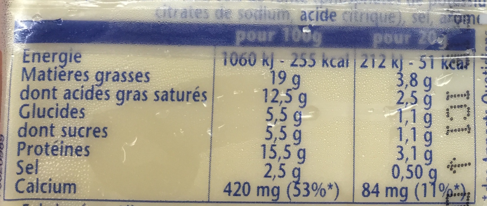 Toastinette Pour Croque Monsieur Nature - Valori nutrizionali - fr