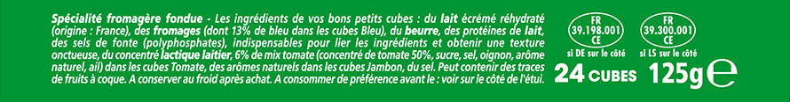 Apéricube Campagne 24C - Ingredients - fr