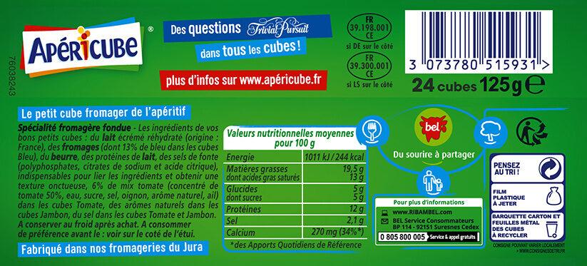 Apéricube Campagne 24c - Voedingswaarden - fr