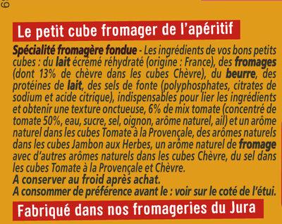 Apéricube Recettes Provencales - Ingrediënten - fr