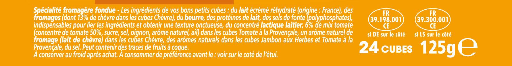 Apéricube Recettes Provençales 24C - Ingrédients - fr