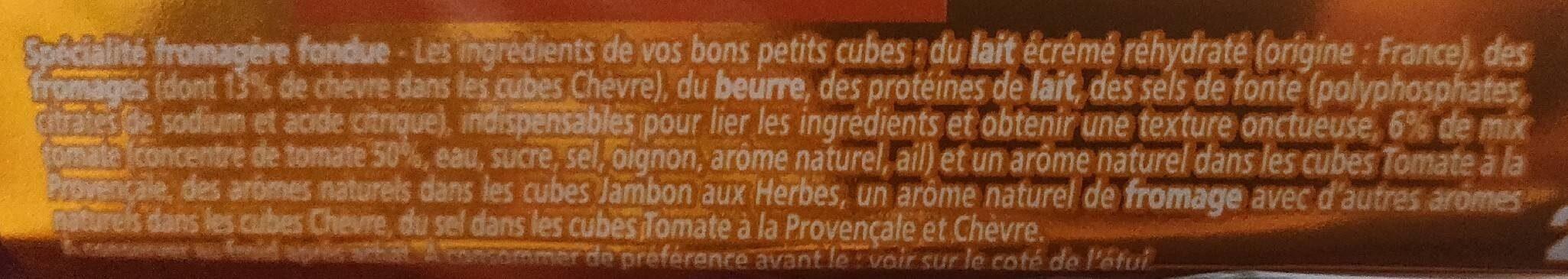 Apéricube Recettes Provencales - Voedingswaarden - fr