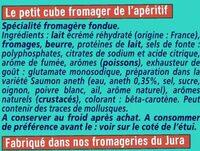 Apéricube Recettes du Pêcheur - Ingrediënten - fr