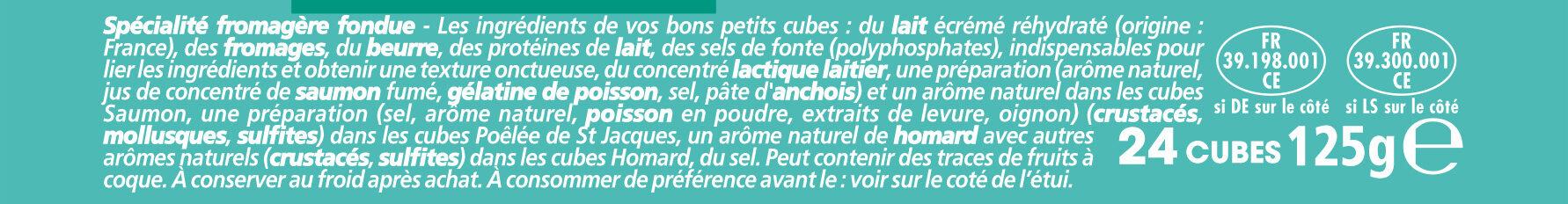 Apéricube Recettes du Pêcheur 24C - Ingrédients - fr