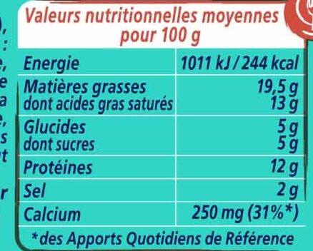 Apéricube Recettes du Pêcheur - Voedingswaarden - fr