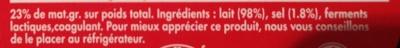 Mini Babybel (23 % MG) - Ingrediënten - fr