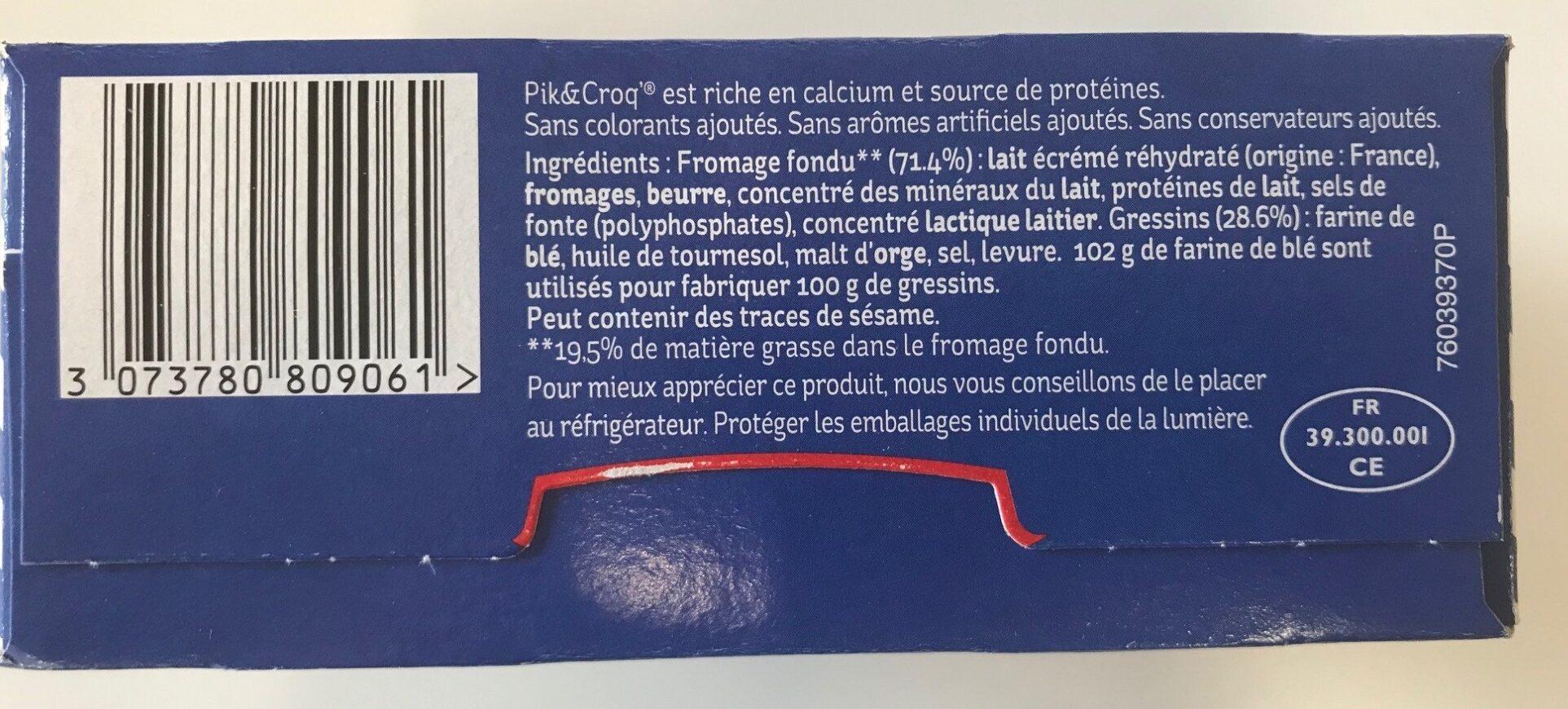 Pik&Croq nature 5B - Ingrédients - fr