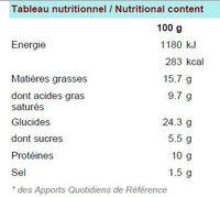 Pik&Croq nature 5B - Informations nutritionnelles - fr