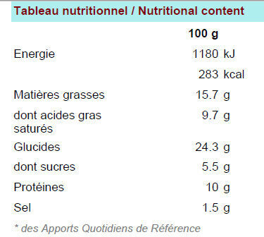 Pik&Croq nature 5B - Nutrition facts - fr