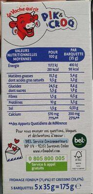Pik&Croq - Informations nutritionnelles - fr
